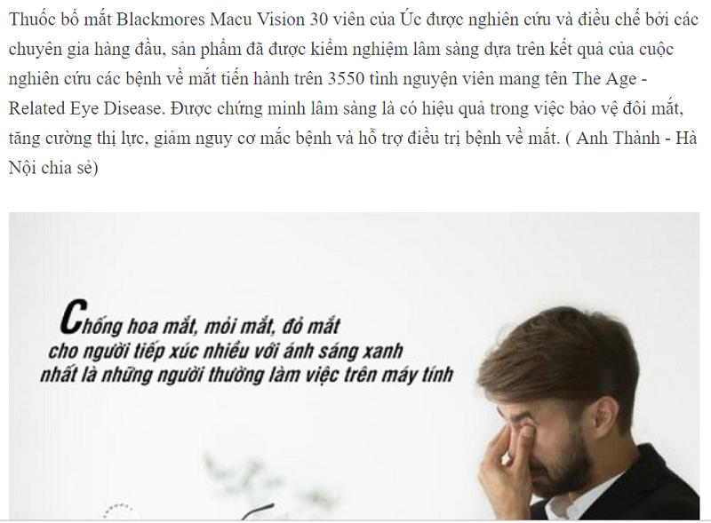 Viên uống bổ mắt Blackmores Macu-vision có tốt không, blackmores macu-vision, blackmores macu vision, blackmores macu vision plus, thuốc bổ mắt blackmores có tốt không, blackmore macu vision review, blackmores macu vision review, thuốc bổ mắt cho trẻ em của úc, blackmores macu-vision 125 viên, review thuốc bổ mắt blackmores, thuốc blackmores macu-vision, blackmores macu-vision 125 tablets, viên uống bổ mắt blackmores macu-vision của úc, thuốc bổ mắt blackmores macu-vision, blackmores macu vision plus review, viên uống bổ mắt blackmores macu-vision, viên uống blackmores macu vision, cách uống blackmores macu vision,
