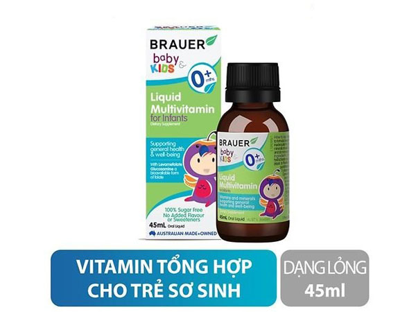Cách sử dụng Brauer Baby & Kids Liquid Multivitamin