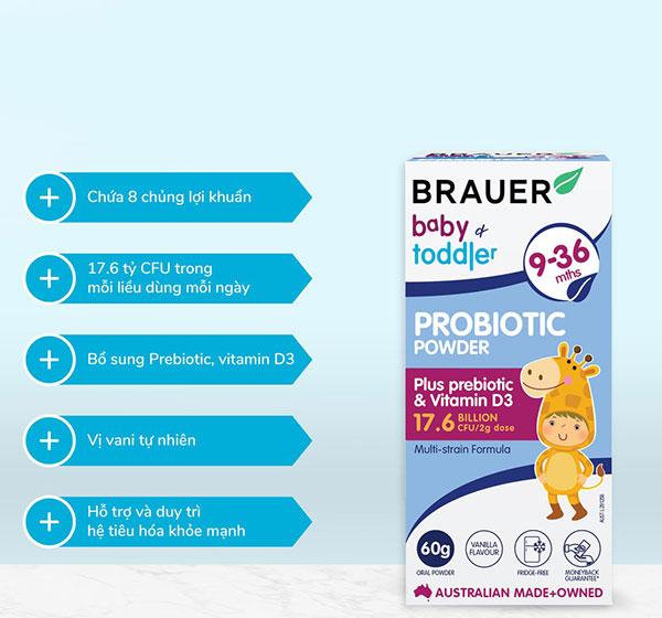 Đối tượng sử dụng Brauer Baby and Toddler Probiotic