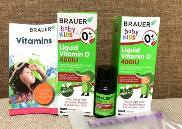 brauer baby & kids liquid vitamin d 400iu, brauer kids liquid vitamin d 400iu úc, brauer liquid vitamin d 400iu, vitamin d 400iu brauer