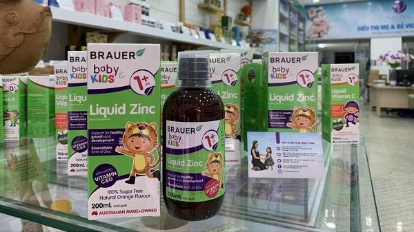 Công dụng của Brauer Baby & Kids Liquid Zinc