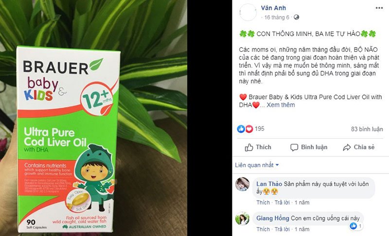 Feedback từ khách hàng về Brauer Baby & Kids Ultra Pure Cod Liver Oil with DHA