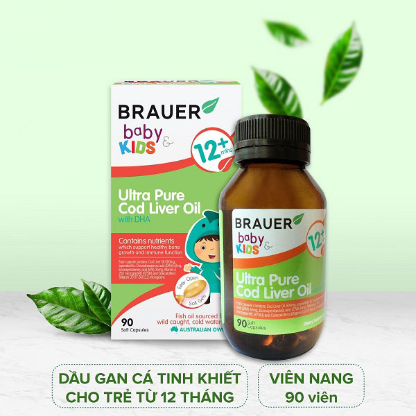 Công dụng của Brauer Baby & Kids Ultra Pure Cod Liver Oil with DHA