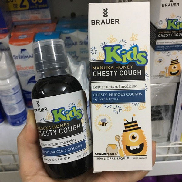 Brauer Honey Kids Chesty Cough 100ml