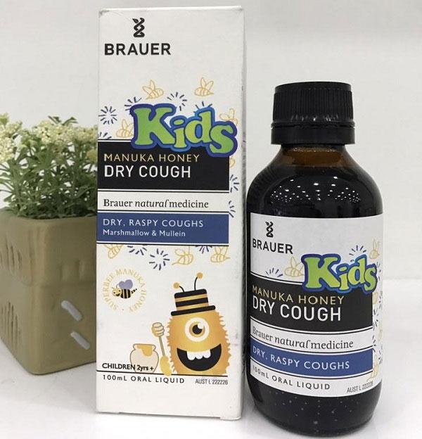 Đối tượng sử dụng Brauer Honey Kids Dry Cough