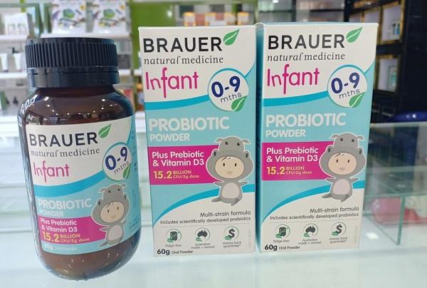Công dụng của Brauer Infant Probiotic Powder