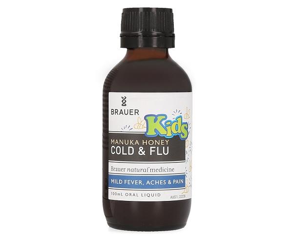 Công dụng của Brauer Honey Kids Cold & Flu