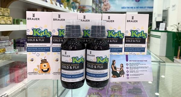 Đối tượng sử dụng Brauer Honey Kids Cold & Flu