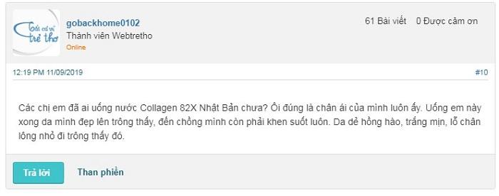 Review webtretho về Collagen 82X