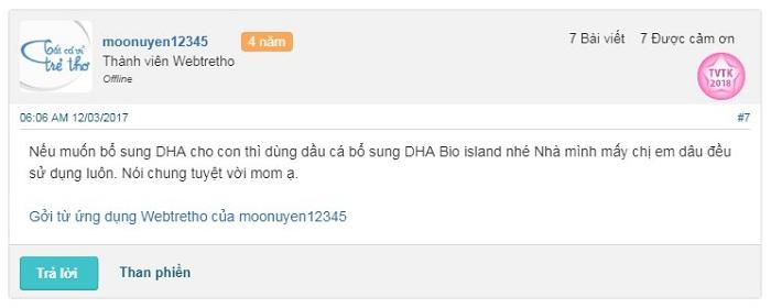 Dầu cá Bio Island DHA có tốt không, dầu cá bio island bổ sung dha cho trẻ