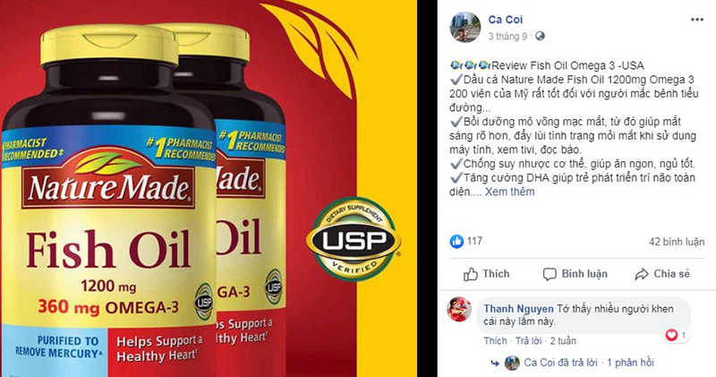 Feedback từ khách hàng về dầu cá Nature Made Fish Oil