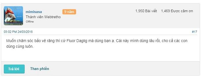 Hiệu quả của Flour Daglig là gì?
