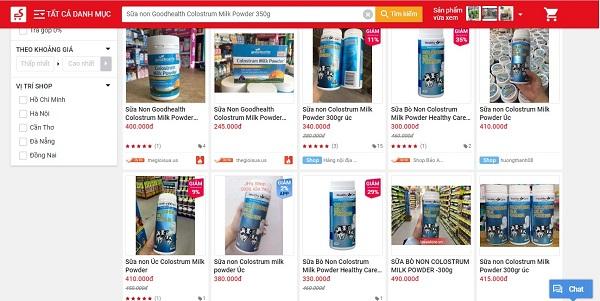 Mức giá của Colostrum Milk Powder