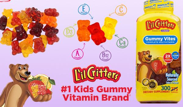 l'il critters gummy vites reviews, 300 gummy bears, kẹo dẻo vitamin tổng hợp, 300 viên.
