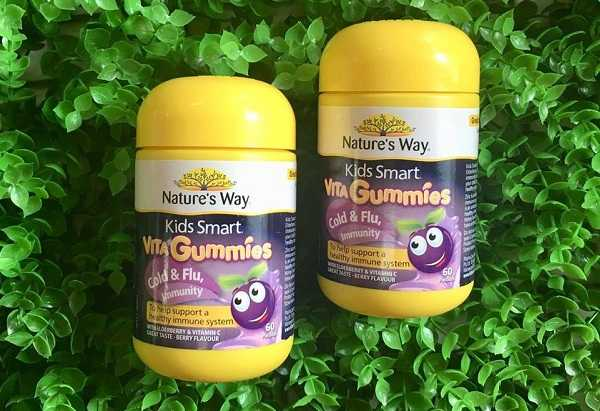 vita gummies cold and flu, nature's way vita gummies, nature's way kidsmart của úc, nature's way vita gummies cold and flu, kẹo dinh dưỡng cho bé, kẹo vita gummies nature's way.