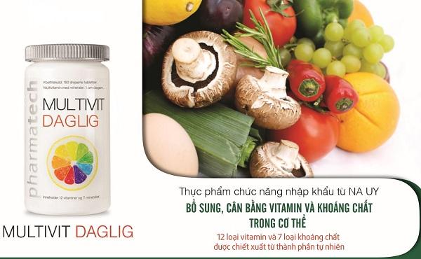 multivitamin dagligt, multivi dagligt, thực phẩm bảo vệ sức khỏe multivi dagligt, multivi dagligt có tốt không, multivi dagligt review, multivi dagligt giá bao nhiêu, viên nén bổ sung vitamin multivit deglig