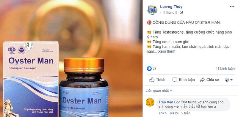 tinh chất hàu oyster man có tốt không, oyster man có tốt không, thực phẩm chức năng oyster man, viên uống oyster man, viên uống hỗ trợ sinh lý nam oyster man, tinh chất hàu oyster man mua ở đâu, viên uống hàu oyster man, review tinh chất hàu oyster man, tinh chất hàu oyster man review, tinh chất hàu oyster man giá bao nhiêu, Đánh giá về Oyster Man