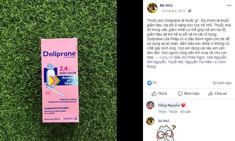 siro hạ sốt doliprane có tốt không, thuốc hạ sốt doliprane 100mg, cách dùng siro hạ sốt doliprane 2.4, bảo quản thuốc hạ sốt doliprane dạng siro, cách uống thuốc hạ sốt cho bé doliprane, cách sử dụng, thành phần.