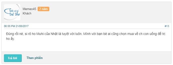Review webtretho về siro ho Muhi