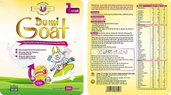 Sữa dê Dumi Goat 1 hộp 500g