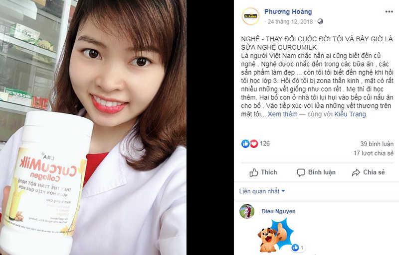 Feedback từ khách hàng về sữa nghệ Curcumilk