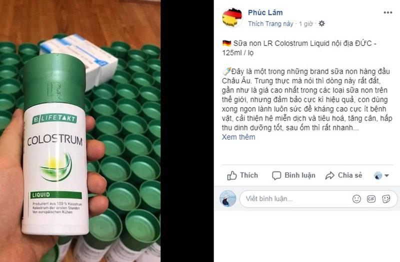 Đánh giá hiệu quả của sữa non colostrum nội địa Đức