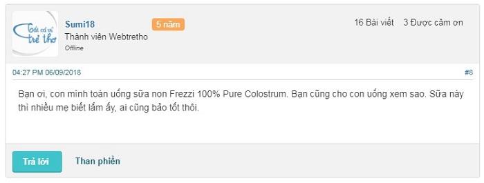 Sữa non Frezzi có tốt không