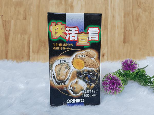 Thành phần của tinh chất hàu tươi tỏi nghệ Orihiro Nhật Bản