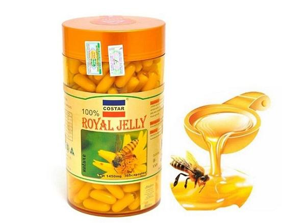 Viên uống sữa ong chúa Costar Royal Jelly, sữa ong chúa royal jelly 1000mg, royal jelly 1600mg, sữa ong chúa royal jelly 1610mg review, sữa ong chúa úc có tốt không, tác dụng của sữa ong chúa royal jelly 1610mg