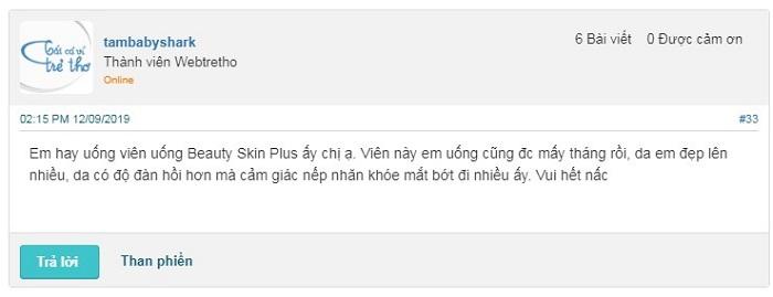 Ý kiến nhận xét về viên uống Beauty Skin Plus