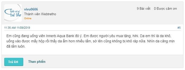Nhận xét về hiệu quả của viên uống Innerb Aqua Bank