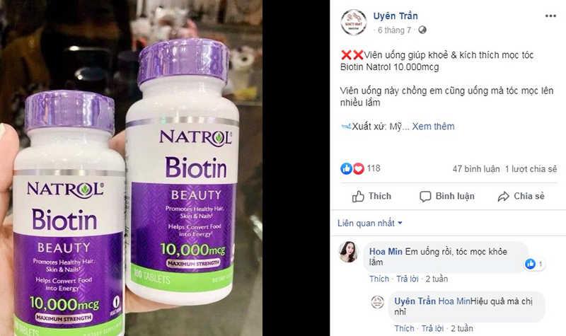 Feedback từ người dùng về viên uống Natrol Biotin