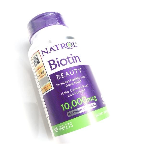 Cách sử dụng viên uống Natrol Biotin