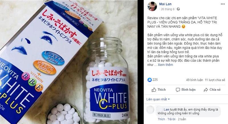 Feedback từ khách hàng về Vita White Plus