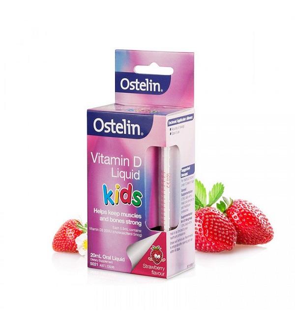 ostelin vitamin d liquid kid, cách dùng, uống như thế nào, liều dùng vitamin d úc, dạng giọt, tác dụng phụ.