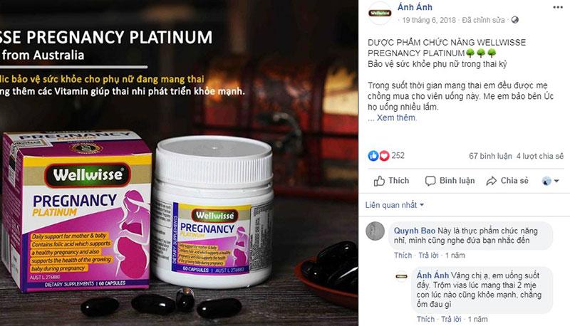 Feedback từ khách hàng về Wellwisse Pregnancy Platinum