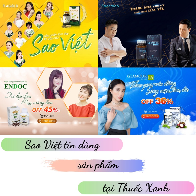Sao Việt tin tưởng lựa chọn các sản phẩm tại Thuốc Xanh