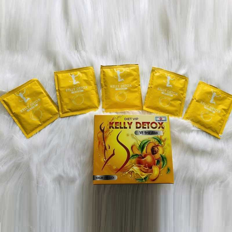 Trà đào giảm cân Kelly Detox có tốt không? Giá bao nhiêu?