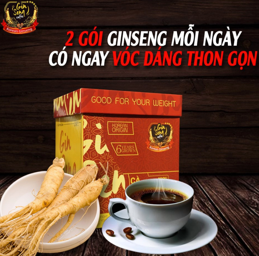Review cà phê sâm giảm cân GinSeng có tốt không? Giá bao nhiêu?