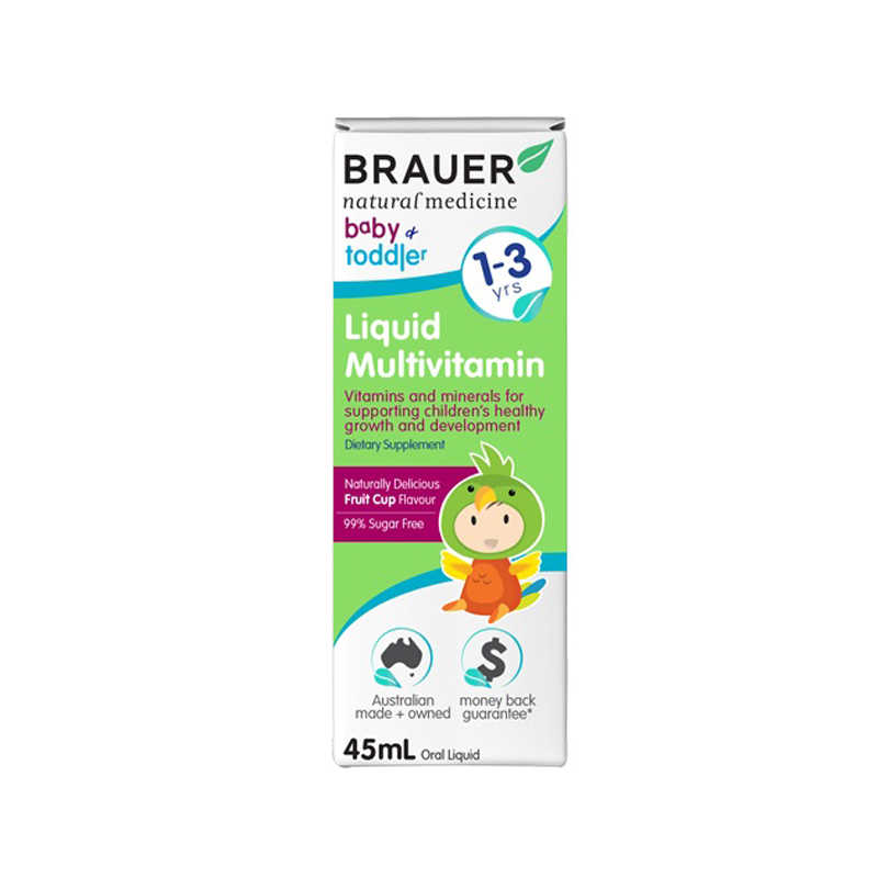 Brauer Baby & Kids Liquid Multivitamin for Toddlers