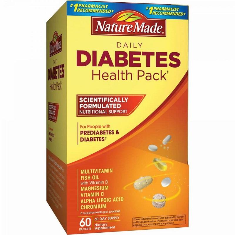 Thực phẩm cho người tiểu đường Diabetes 60 gói Mỹ