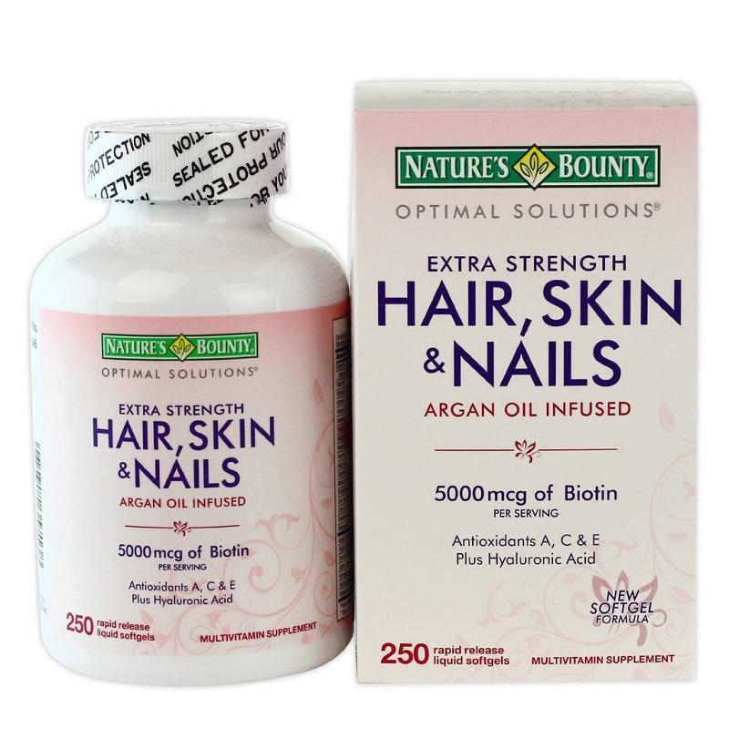 Viên Uống Đẹp Da, Tóc, Móng Hair Skin Nail Nature's Bounty