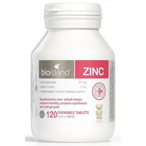 Bio Island Zinc 120 Viên Hỗ Trợ Bổ Sung Kẽm