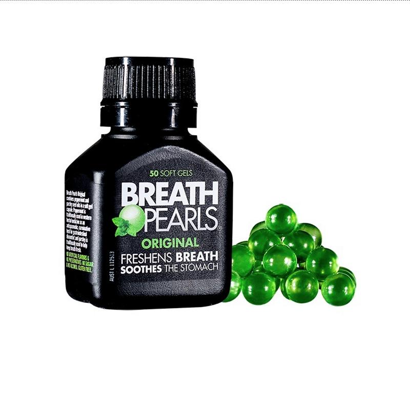 Breath Pearls - Viên Uống Hỗ Trợ Thơm Miệng Úc